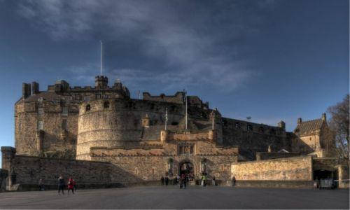Zdjecie SZKOCJA / - / Edynburg / Zamek w Edynburgu: widok od frontu