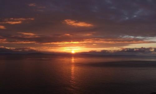 Zdjęcie SZKOCJA / Hebrydy Wewnetrzne / Wyspa Skye / Zachod slonca na Hebrydami Zwenetrznymi