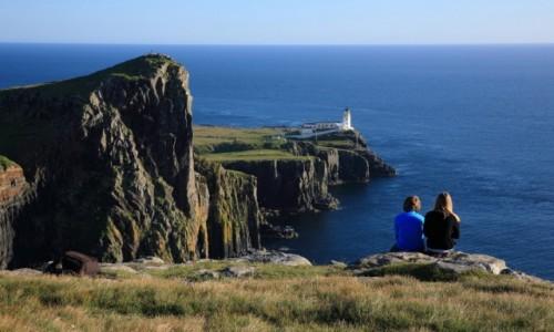 Zdjęcie SZKOCJA / Skye / Neist Point / Neist Point Lighthouse