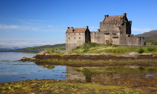 Zdjecie SZKOCJA / Kyle of Lochalsh / Eilean Donan Castle / Eilean Donan radośnie