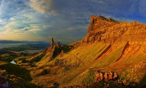 SZKOCJA / Hebrydy Wewnętrzne / Isle of Skye / Of Man of Storr o wschodzie słońca.