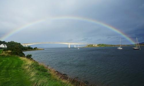 SZKOCJA / Wyspa Skye / Kyleakin / Dwa mosty