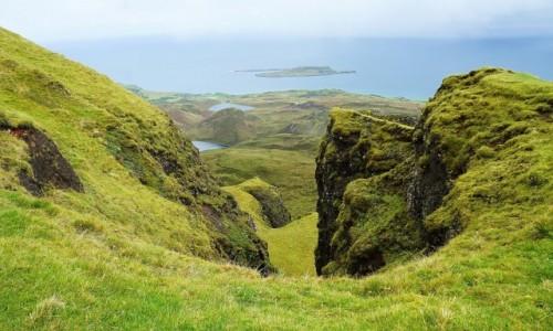 SZKOCJA / Wyspa Skye / Góry Quiraing / Widok na zatokę