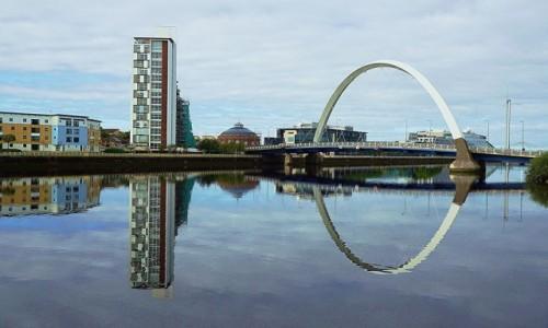 Zdjecie SZKOCJA / Glesgow / Rzeka Clyde / Architektura w przyrodzie