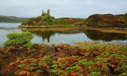 SZKOCJA / Wyspa Skye / Kyleakin / Ruiny zamku Maol