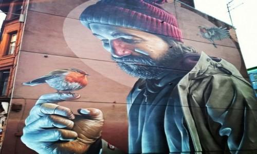 SZKOCJA / Glasgow / ulica Glasgow / mural
