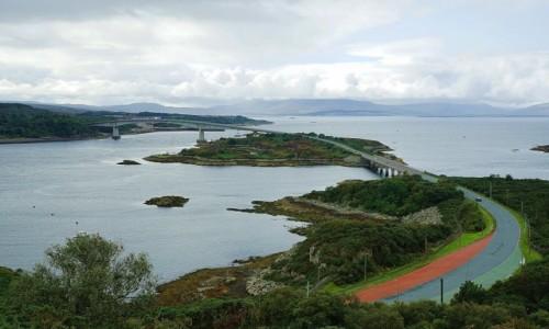 SZKOCJA / Kyle of Lochalsh / Wzgórze Plock / Skye Bridge