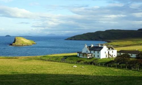 SZKOCJA / Wyspa Skye / Duntulum / Farma z widokiem
