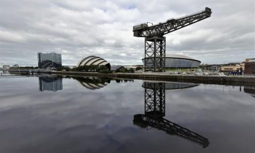 Zdjecie SZKOCJA / Glasgow / Rzeka Clyde / Dwoistość