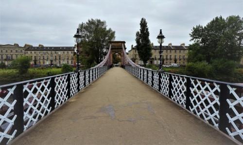 Zdjęcie SZKOCJA / Glasgow / Rzeka Clyde / Mostek