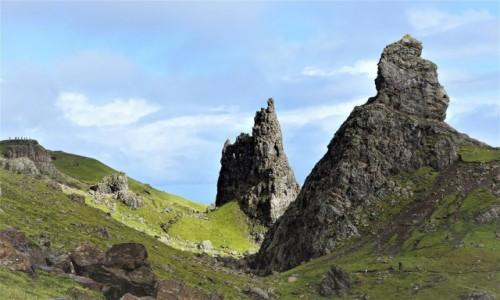 Zdjecie SZKOCJA / Wyspa Skye / Wzgórze Storr / Skałki