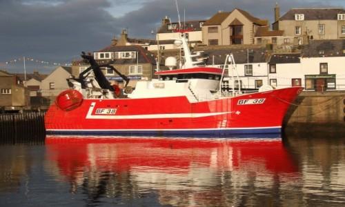 Zdjecie SZKOCJA / Północna Szkocja / Port w Macduff / Kuter