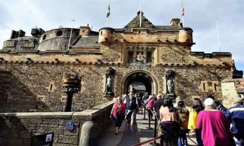 Zdjecie SZKOCJA / Edynburg / Zamek / Wejście główne