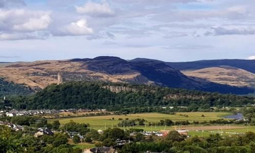 Zdjęcie SZKOCJA / Stirling / Stirling Castle / Widok z zamku na miasto