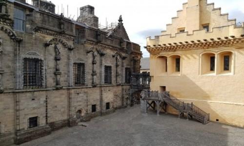 Zdjęcie SZKOCJA / Stirling / Stirling Castle / Pałac Królewski i żółty Great Hall