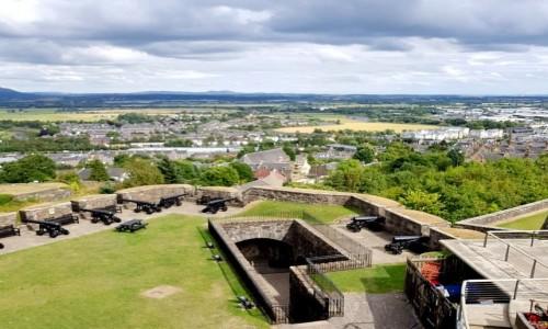 Zdjęcie SZKOCJA / Stirling / Stirling Castle / Widok na stanowisko baterii dział