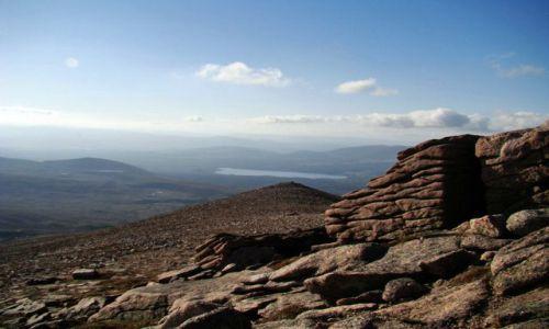 Zdjęcie SZKOCJA / Cairngorms Mountains / Glen More / formy skalne - rekonesans po okolicy