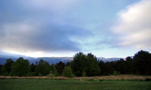 Zdjęcie SZKOCJA / Cairngorms Mountains / Glen More / rozpoczyna sie nowy dzien
