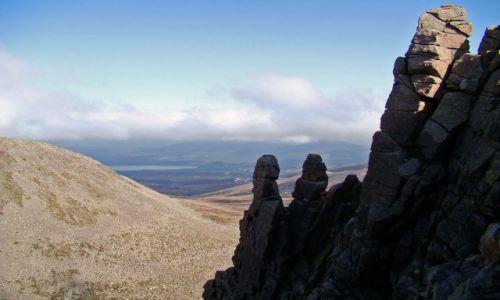 Zdjęcie SZKOCJA / Cairngorms Mountains / Glen More / skalna ukladanka