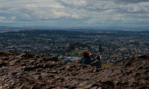 Zdjecie SZKOCJA / Edinburgh / Arturh's seat / Panorama Edinbu