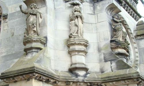 Zdjęcie SZKOCJA / East Lothian  okolice  Edinburgh / Roslin / ciekawe elementy architektury Rosslyn Chapel