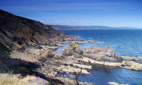 Zdjęcie SZKOCJA / poludnio - wschodnie wybrzeze Szkocji / okolice Fast Castle Head / East Coast & North Sea