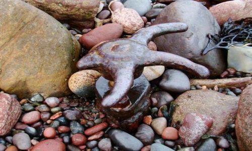 Zdjęcie SZKOCJA / poludnio - wschodnie wybrzeze Szkocji / Dunbar / elementy metalowych kostrukcji