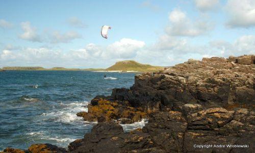 Zdjęcie SZKOCJA / Isle of Skye / Dunvegan / Windsurfer