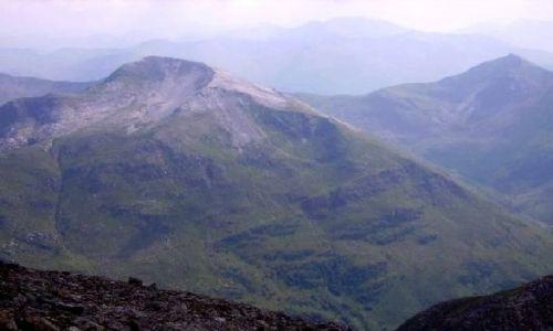 SZKOCJA / Highlands / Ben Nevis / widok prawie ze szczytu