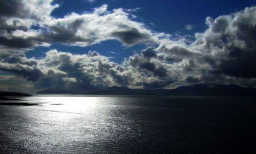 Zdjecie SZKOCJA / Shoe Bay / Orban / Niebo nad zatoką