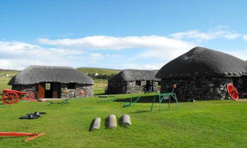Zdjecie SZKOCJA / - / Skye Island / skansen na wyspie Skye