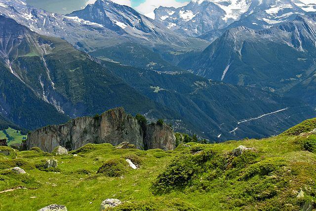 Zdjęcia: okolice lodowca Aletsch, Valais, Widoki wokół lodowca Aletsch, SZWAJCARIA