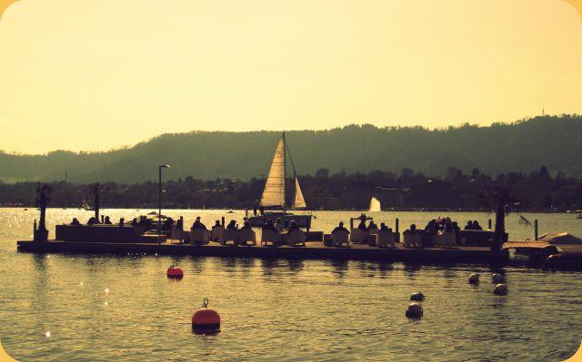 Zdj�cia: Zurich lake, Zurich, Jezioro w Zurich, SZWAJCARIA
