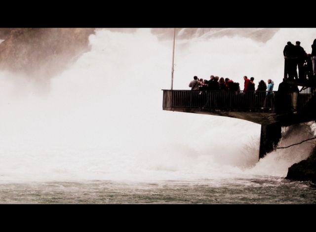 Zdjęcia: Zurich kanton, Rheinfall, Rheinfall  is the largest plain waterfall in Europe, SZWAJCARIA