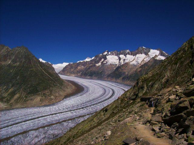 Zdjęcia: Aletschgletscher, Alpy szwajc., ale slizgawka, SZWAJCARIA