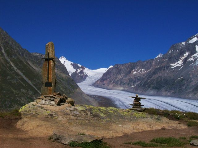 Zdjęcia: Aletschgletscher, Alpy szwajc., polegly na szlaku, SZWAJCARIA