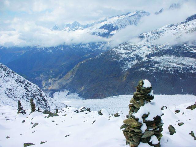 Zdjęcia: przed celem- fiesch, no i juz lodowiec-aletschgletscher, SZWAJCARIA