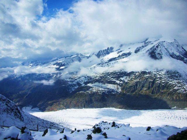 Zdjęcia: eggishorn, no i juz lodowiec-aletschgletscher-eggishorn, SZWAJCARIA