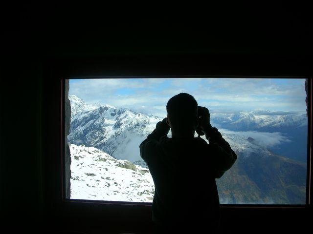 Zdjęcia: eggishorn, Alpy szwajc., widok ze schroniska, SZWAJCARIA