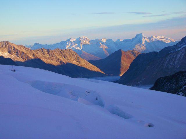 Zdjęcia: szczyt jungfraujoch, Alpy szwajc., przepascie sniegowe, SZWAJCARIA