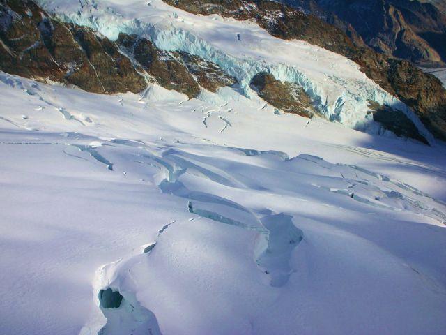 Zdj�cia: szczyt jungfraujoch, Alpy szwajc., przepascie sniegowe, SZWAJCARIA