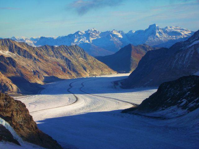Zdjęcia: szczyt jungfraujoch, Alpy szwajc., widok na lodowiec aletsch, SZWAJCARIA