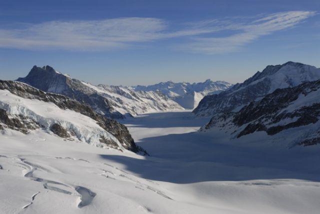 Zdjęcia: Widok z Jungfraujoch lub zwanej inaczej Top of Europe, Aletsch Glacier, SZWAJCARIA