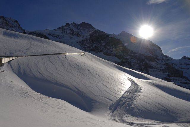 Zdjęcia: Kleine Scheidegg, W drodze na Jungfraujoch, SZWAJCARIA