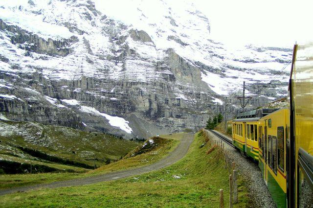 Zdjęcia: Szwajcaria, Alpy, Kolejka na Jungfraujoch, SZWAJCARIA
