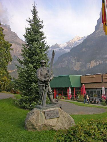 Zdjęcia: Interlaken, Narciarz, SZWAJCARIA