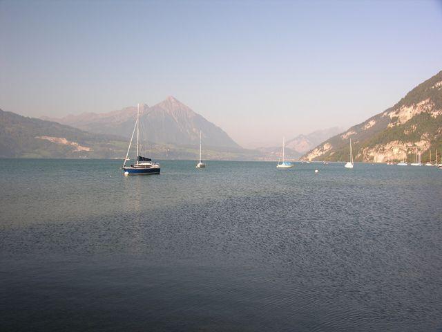 Zdjęcia: Interlaken, Nad jeziorem, SZWAJCARIA