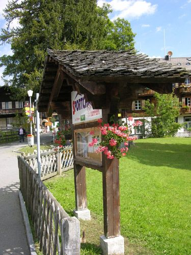 Zdjęcia: Interlaken, Tablica, SZWAJCARIA