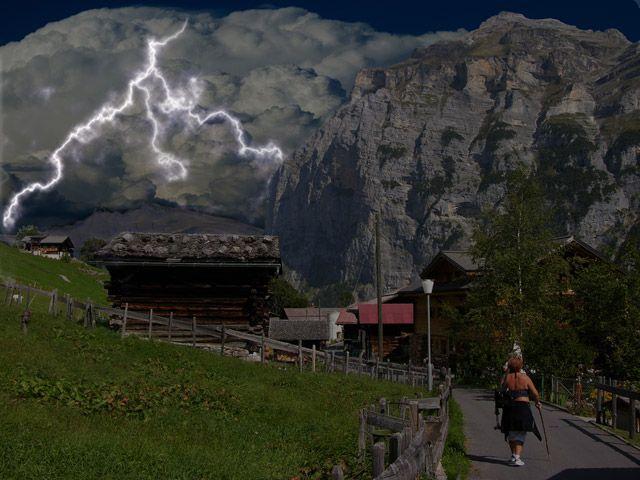 Zdjęcia: Interlaken, Burza, SZWAJCARIA
