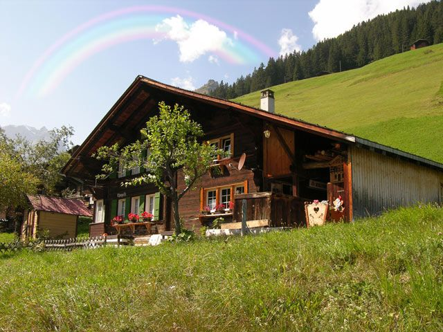 Zdjęcia: Interlaken, Tęcza, SZWAJCARIA